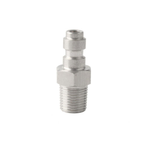 1//8 NPT Paintball PCP Quick Coupler 8mm Male Plug w// One Way Fost Connector US