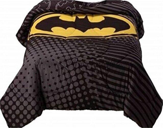 dc comics batman microfiber twin comforter bedroom bedding dark knight ebay. Black Bedroom Furniture Sets. Home Design Ideas