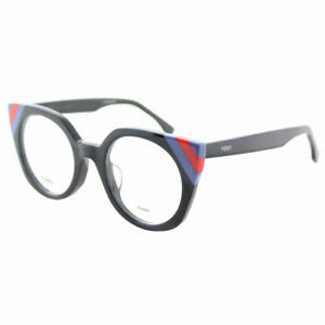 d52fae818a Fendi Waves FF 0246 PJP Dark Blue Striped Red Blue Plastic Cat-Eye ...