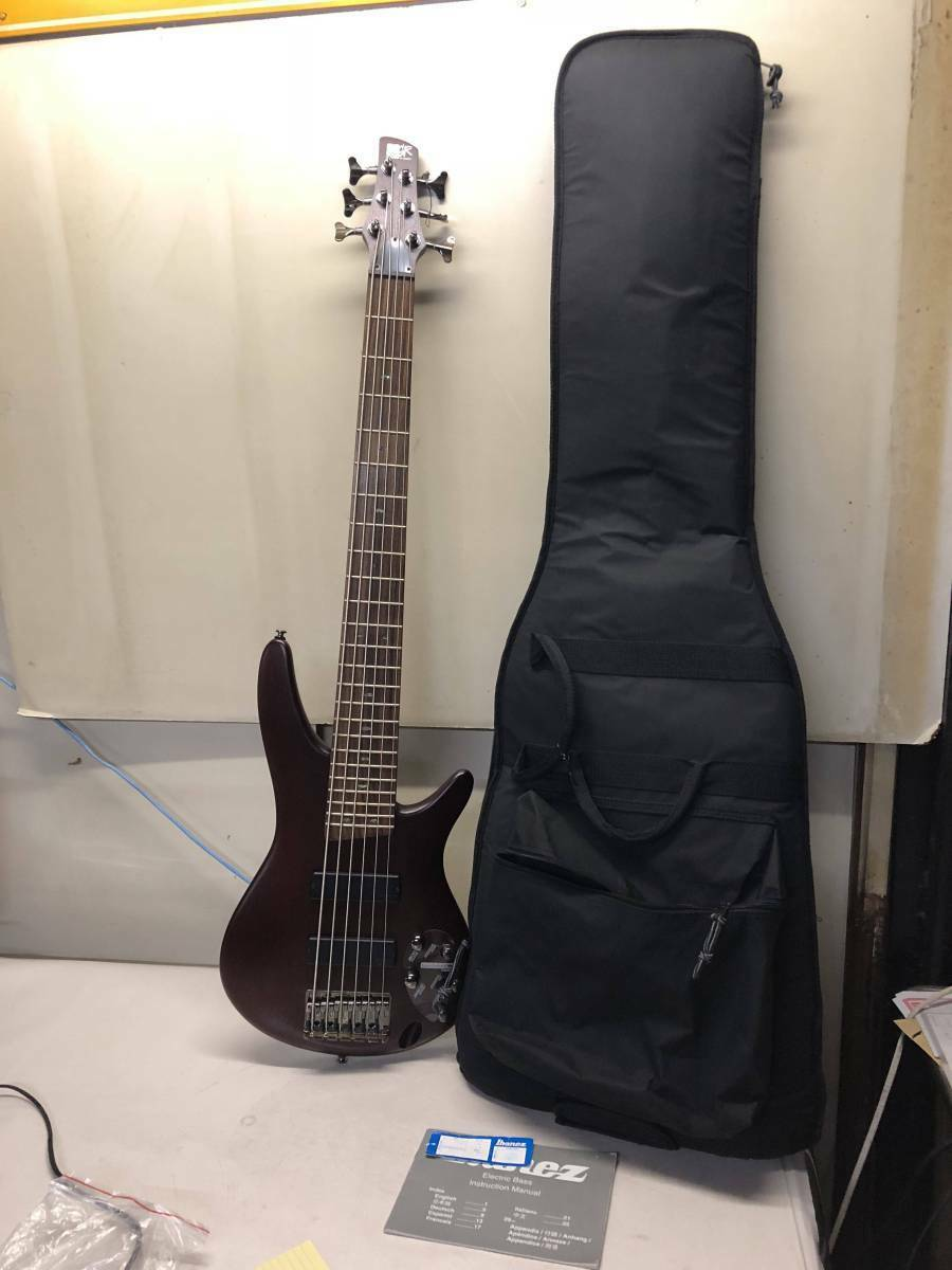 Sound is ok pretty 6 string with base case Ibanez SR - 506 rare useful EMS F/S