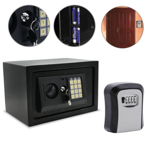 Elektronischer Safe Schlüsselsafe Zahlenschloss Tresor Möbeltresor