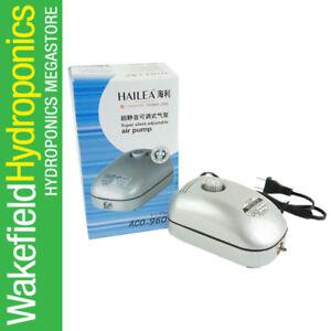 Pumps (water) Fish & Aquariums Self-Conscious Hailea Aco 9601 2w Adjustable Air Pump 192 Lph Aquarium Fish Tank Hydroponics