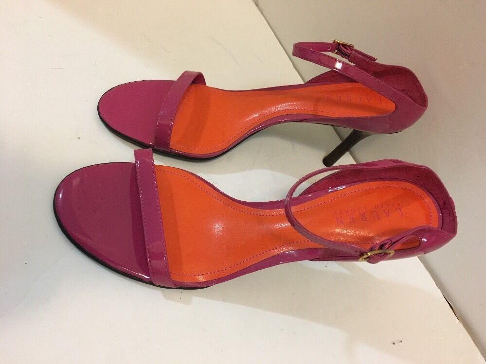 Ralph Lauren Womans Sandals rose w Orange Sz Sz Sz 9.5B Leather Upper NWOB c777ce