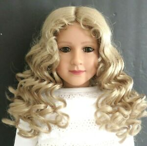 Kemper-TESS-Blond-Full-Cap-Doll-Wig-SZ-12-13-Long-Curly-Full