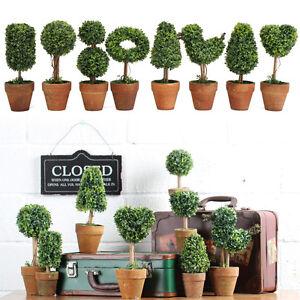 8 Plastic Grass Ball Topiary Tree Pot Dried Plant Wedding