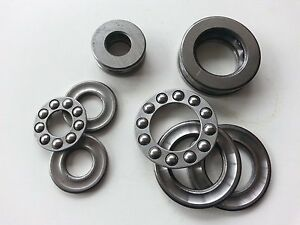 2 Pcs Axial Ball Thrust Bearing 51104 20 x 35 x 10mm CP