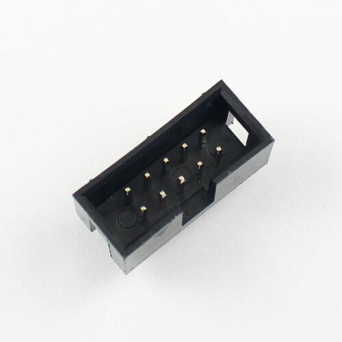 1000Pcs 2.54 mm 2x5 pin 10 Pin Straight Male enveloppées Carte De Circuit Imprimé boîte d/'en-tête d/'Isolation Déplacement connecteur Socket