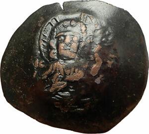 ALEXIUS-III-ANGELUS-Authentic-Ancient-1195AD-Byzantine-JESUS-CHRIST-Coin-i77110