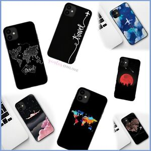 Shockproof Soft Travel Map Case Cover For iPhone 11 12 MINI PRO MAX X SE 2020