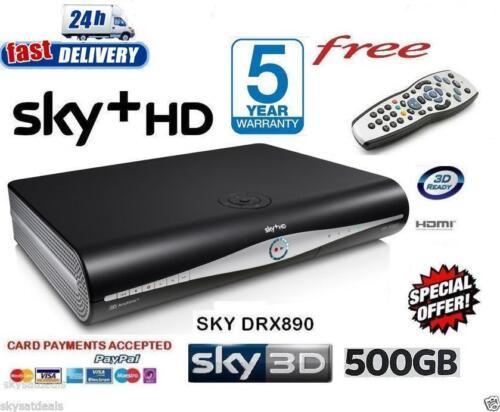 1 of 1 - SKY HD BOX PLUS + HD BOX - 500GB - SKY AMSTRAD DRX890 - ON DEMAND LATEST VERSION