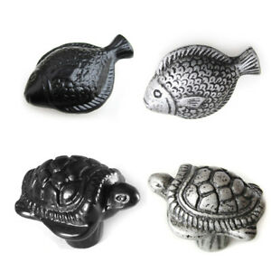 silver kitchen cabinet knobs antique black silver fish tortoise cabinet knob handle 26126