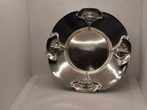 Assiette Coupelle Art Deco attribué à GALLIA / Christofle métal argenté 22,5cm