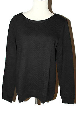 Clothing, Shoes & Accessories Women's Clothing Smart Nwt Ann Taylor Loft Classic Black Cleverly Quilted Crew Neck Sweatshirt $49 Pxxs