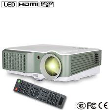 4000lumens LCD LED Projectors Home Theater HD 1080p Video HDMI*2/USB*2 VGA USA