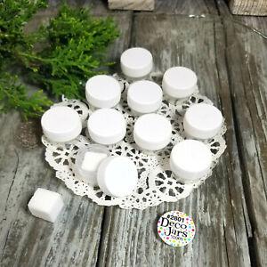 12-Micro-Jars-1-8-oz-25oz-Makeup-Skincare-Container-2801-White-cap-Reusable-USA