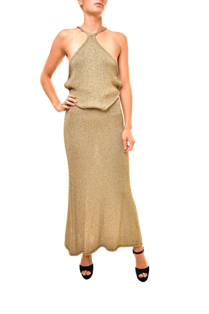 One Teaspoon damen Grand Sorano 17708 Dress Maxi Relaxed Tan Gold Größe S
