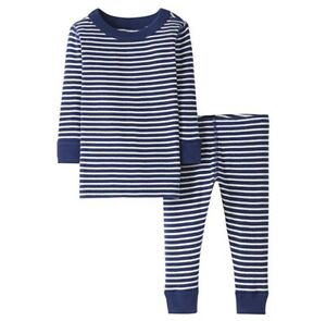 Moon and Back by Hanna Andersson Unisex Kids 2 Piece Long Sleeve Pajama Set Pack of 2