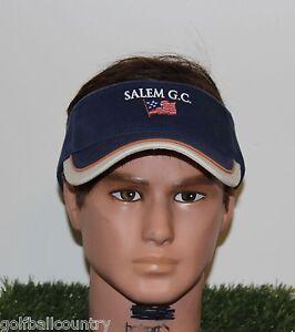 43b95b491dd Image is loading NEW-Imperial-Headwear-Golf-Visor-Salem-Golf-Club-