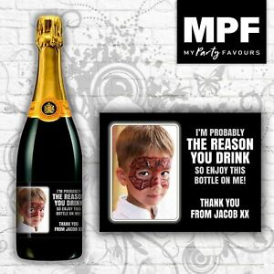 Personalised Photo Champagne/Prosecco Bottle Label (Reason) - Childminder