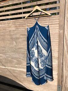 H&m Damen Kleid Sommer/ Strand - Blau Weiß - GR.9, NEU  eBay