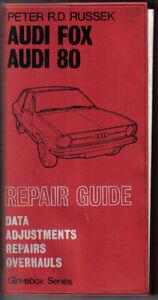 audi fox 80 repair guide data adjustments repairsoverhauls peter rh ebay ie Andy Russek Barbara Russek