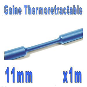 1m Blanc Gaine Thermo Rétractable 2:1 Diam 11 mm