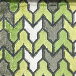 Geometric Pattern Cut Velvet Upholstery