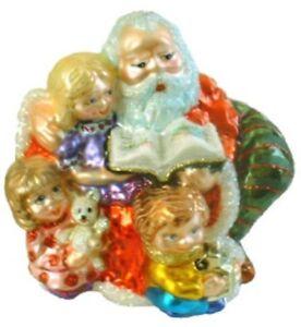 Slavic Treasures MOONLIGHT RED SANTA Retired Polish Glass Ornament