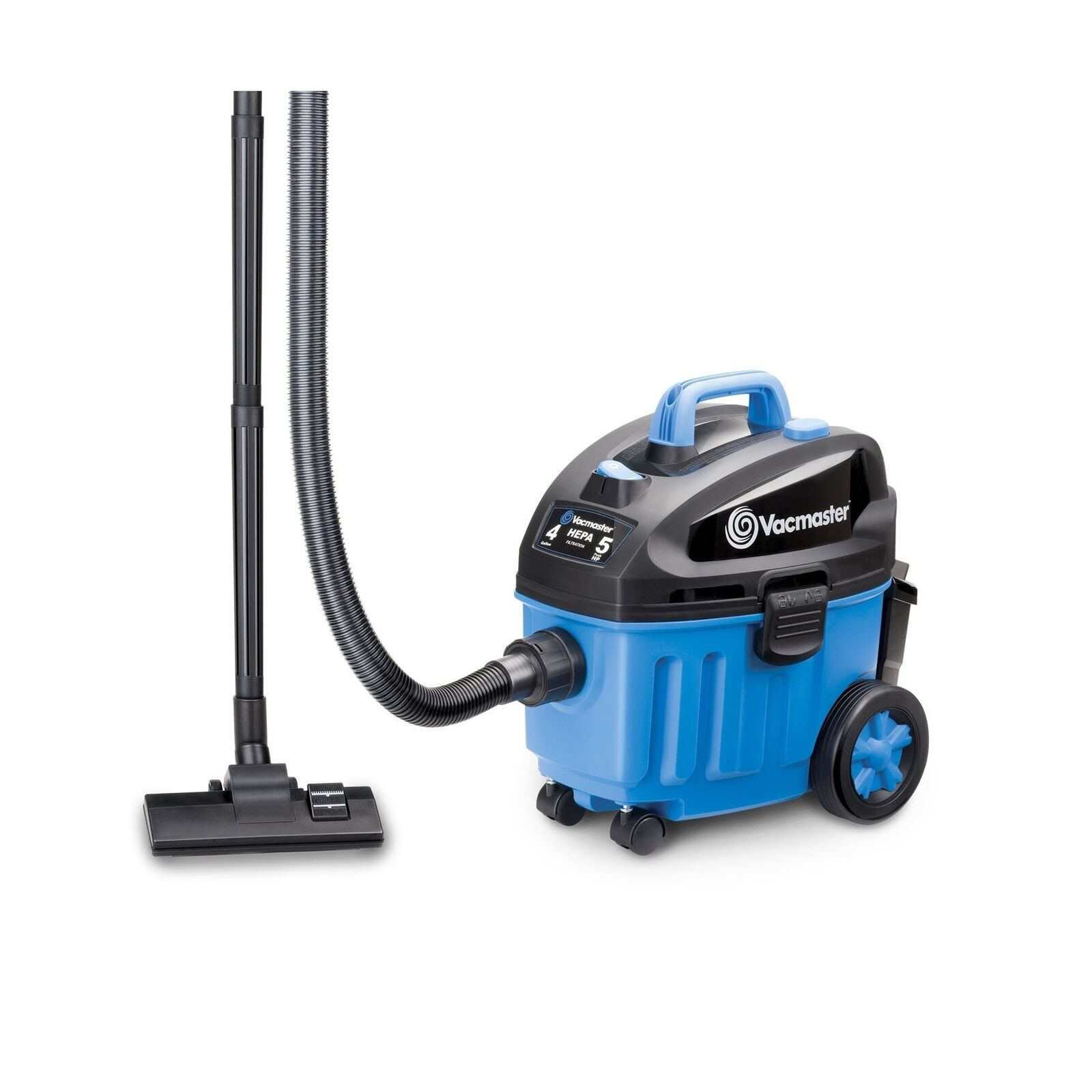 Vacmaster 4 Gallon, 5 Peak HP with 2-Stage Industrial Motor Wet Dry Floor Vac...