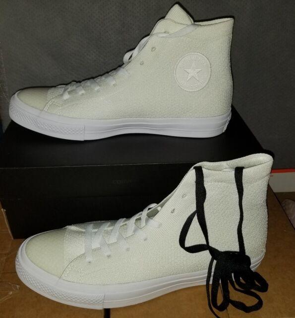 179744b6fa4d7 Converse Chuck Taylor All Star LL Nike Flyknit Men s Size 9 White 156734c