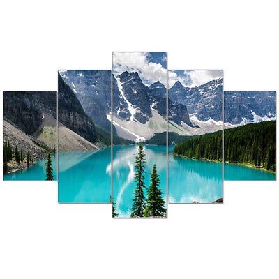 Framed Modern Canada Lake Landscape