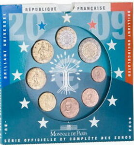FRANCE-EURO-ANNEE-2009-QUALITE-B-U-BLISTER-NEUF