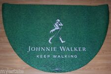 New Johnnie Walker Keep Walking 3'x5' Floor Mat Rubber Back Grass Look Front FUN