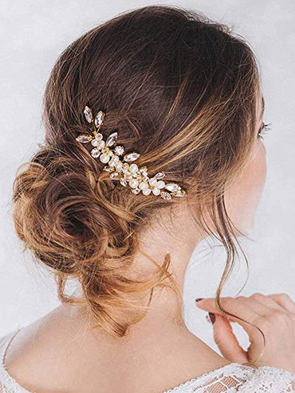 Wedding Prom Hair Comb Piece For Women And Flower Girls Hair Evening Hairstyle For Sale Online