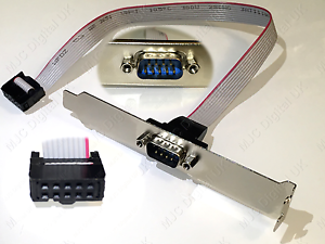 SERIAL-9PIN-RS232-DB9-MOTHERBOARD-COM-PORT-RIBBON-CABLE-CONNECTOR-BRACKET-for-PC