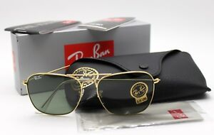 4c18dc480c351 New Ray-Ban RB3136 001 Gold Green Classic G-15 Caravan Sunglasses ...