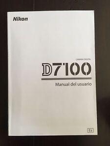 nikon d7100 manual del usuario user s manual spanish espa ol brand rh ebay com manual usuario nikon d7000 español manual usuario nikon d7000 español