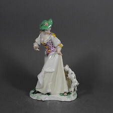 Nymphenburg Bustelli Dame vom Hund angefallen dog Fox Figur figure porcelain