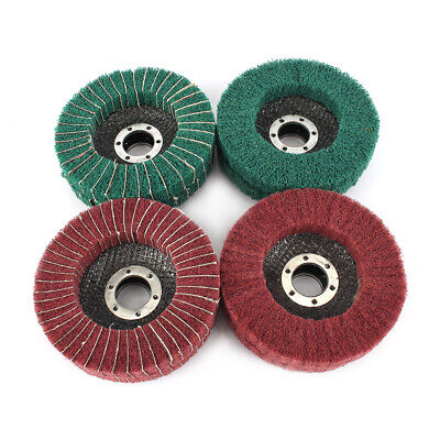 "4pcs  4/"" Nylon Fiber Flap Wheel Abrasive Disc Polishing Wood Products Furniture"