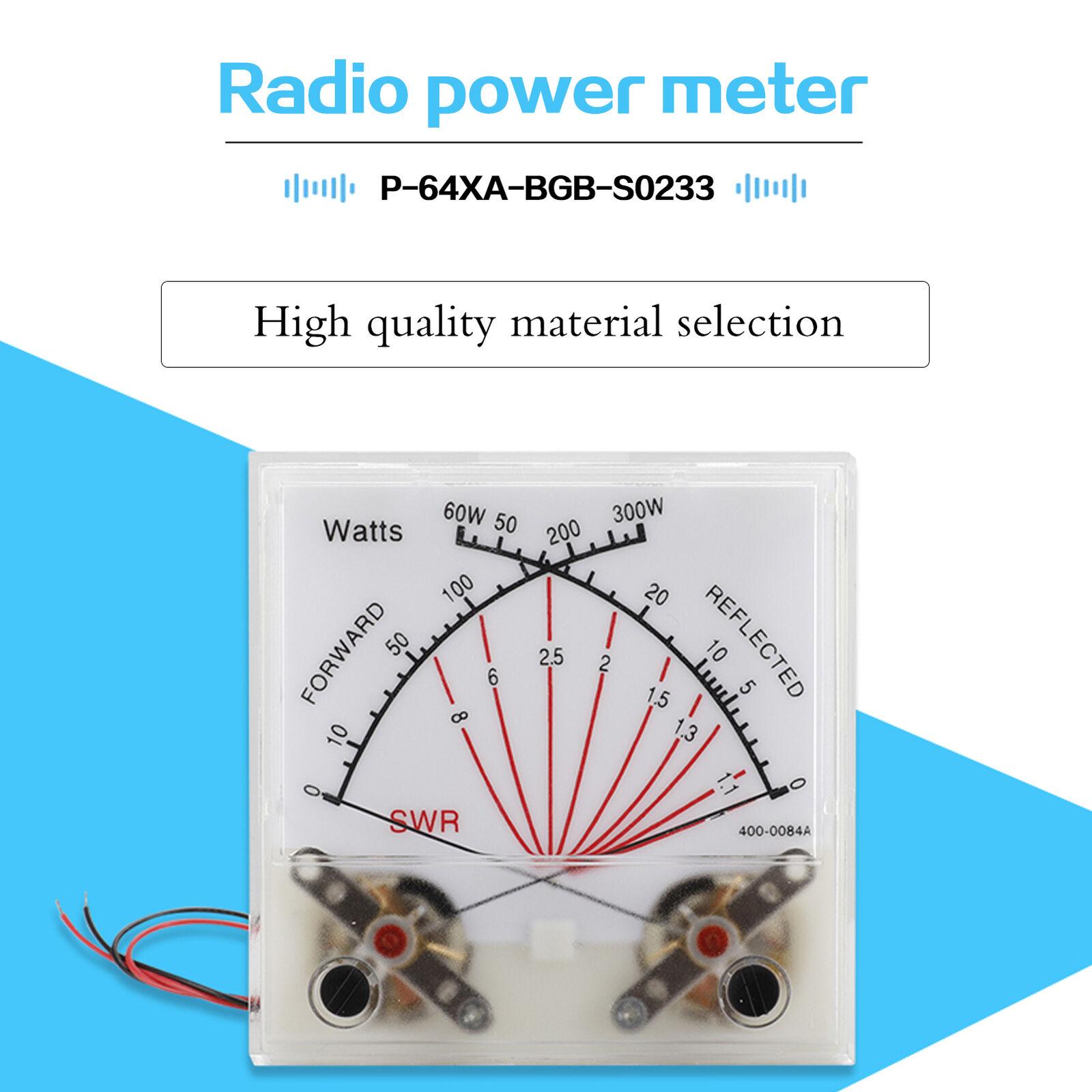 swirrm Standing Wave Radio Station Dual-Pin Power Meter Peak Reading SWR Wattmeter
