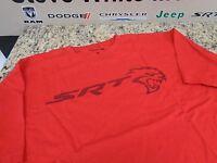 Dodge Men's Srt Hellcat Logo Inside Out Print Crew Neck T-shirt Red Large