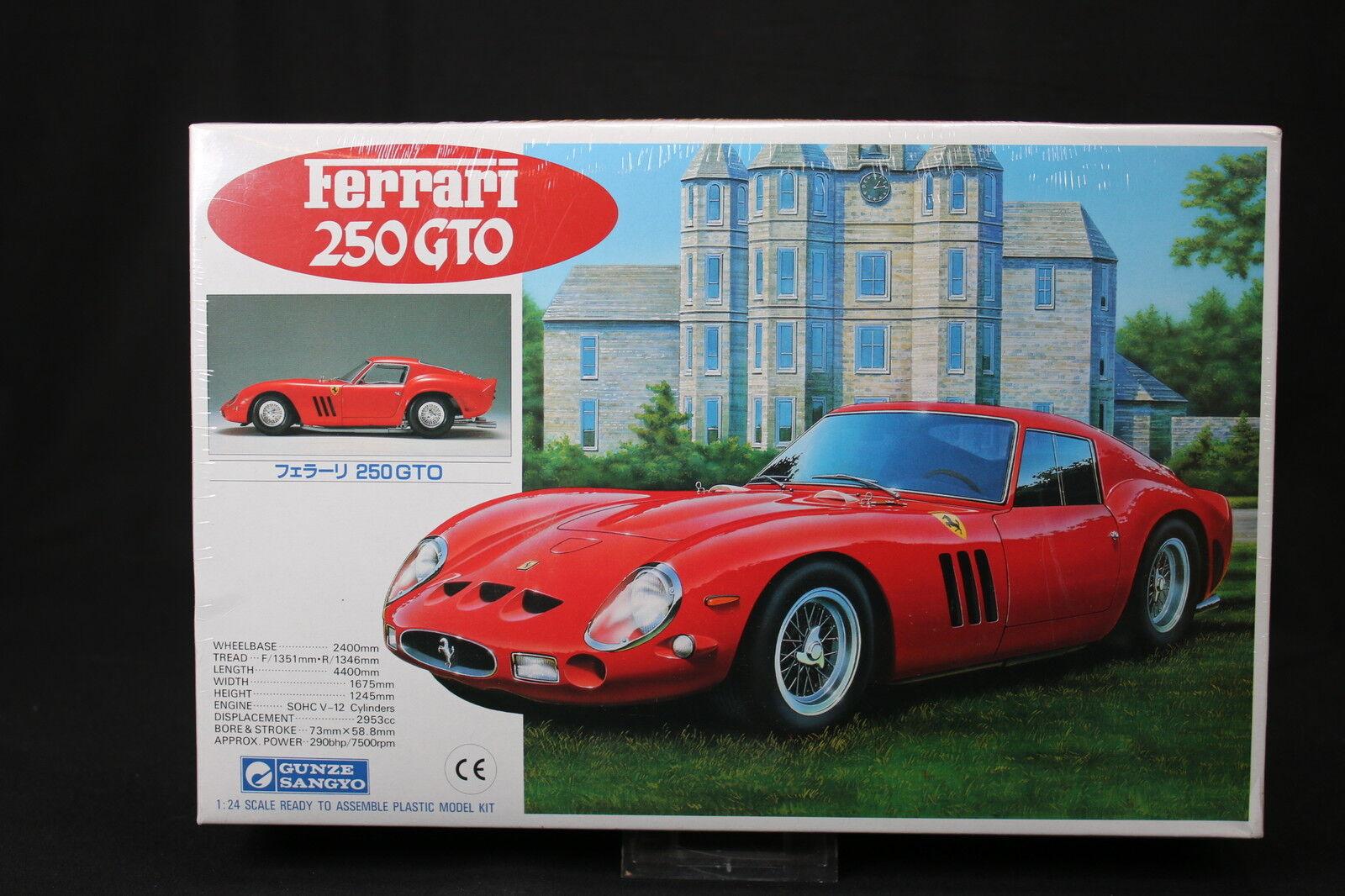 YV007 GUNZE SANGYO 1 24 maquette voiture G-150 1000 Ferrari 250 GTO 150 1989