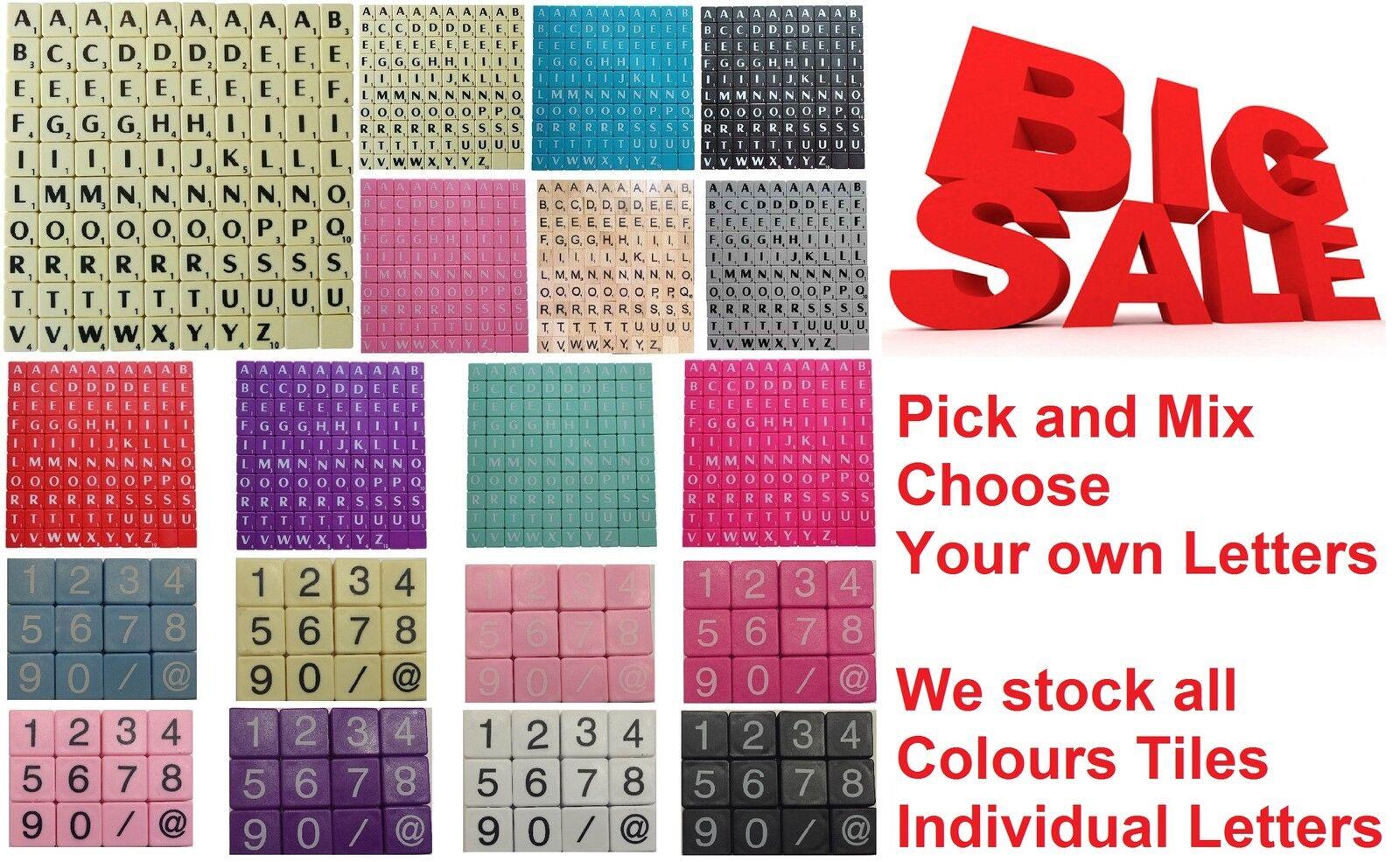 Holz Buchstaben Scrabble Steine schwarz Buchstaben - ZIEHEN und Mix von 3-1000