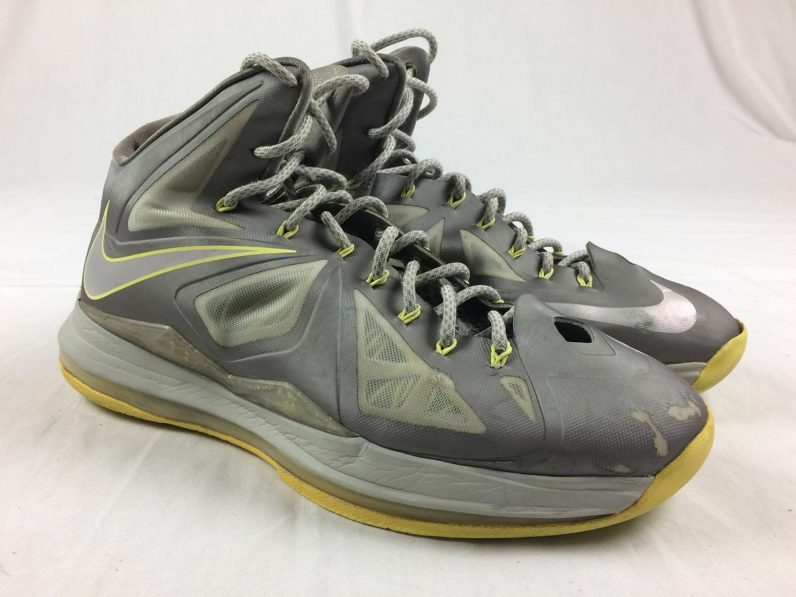 new style 471f4 a743f ... get nike lebron jaune x 10 gris electric jaune lebron basketball chaussures  hommes taille 12 26e15