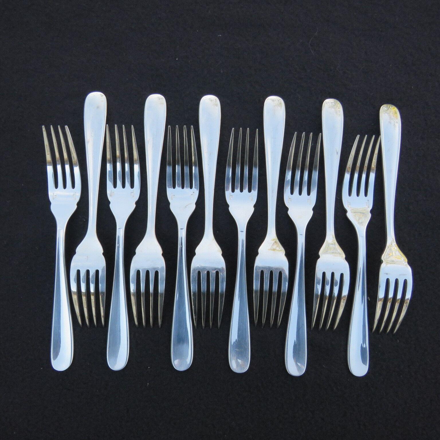 CHRISTOFLE 12 fourchettes à poisson en métal  argenté modèle dax