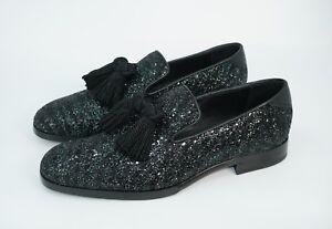 b8372667ea9 Jimmy Choo Men s  Foxley  Coarse Glitter Leather Tassel Loafer ...