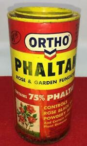 VINTAGE-ORTHO-PHALTAN-PLANT-FOOD-FERTILIZER-FUNGICIDE-CAN-TIN-CONTAINER-GARDEN