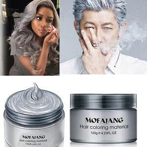 Image Is Loading Silver Colour Grey Hair Wax Men Women Grandma