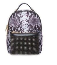1dfb0db01f97 B BRIAN ATWOOD Tina Nylon/Leather Studded Animal Print Black Small Backpack