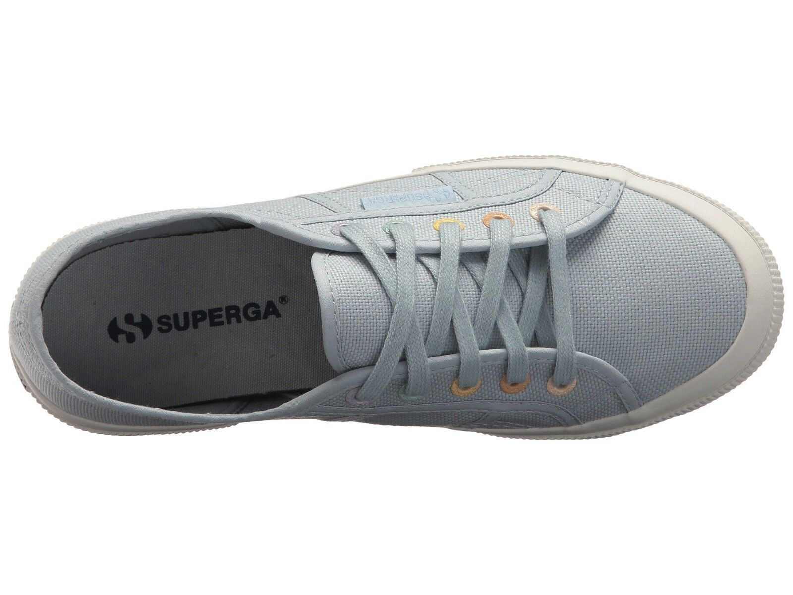 Superga 2750 Farbeeycotw  Lace-Up Lace-Up Lace-Up Turnschuhe Dusty Blau Größe US damen 7 Men 5.5 4828ba